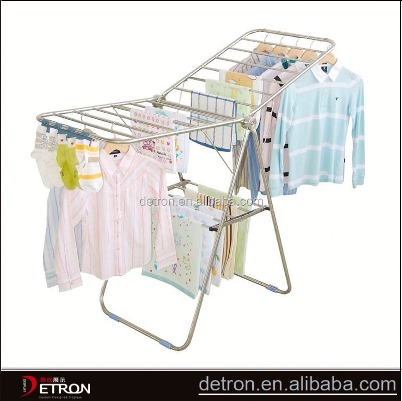 High quality metal indoor clothes drying rack
