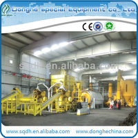 6-20t capacity used rubber/tyre refining machine with ISO automatic oil refine machine tyre pyrolysis machine