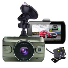3U-80166 Dual Lens Car DVR Camera Full HD 1080P 170 Degree Registrator Recorder Backup Rearview Camera Loop Recording Dash Cam
