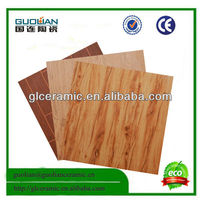 Guolian excellent quality wood tile 6636 wooden tile/ 600*600 marbonite tiles/ tile floor ceramic with ce certificates