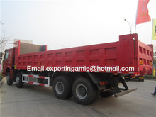 8x4 howo rear 8 wheels heavy-duty tipper truck for sale