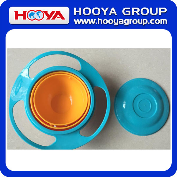 hot sale plastic baby UFO universal gyro bowl Magic 360 Degree Bowl with lid