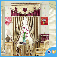 Lovely heart pattern Jacquard curtain fabric , blackout curtain, curtain from china