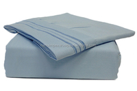 Wholesale latest designs queen king size 100% cotton plain white hotel bed sheet