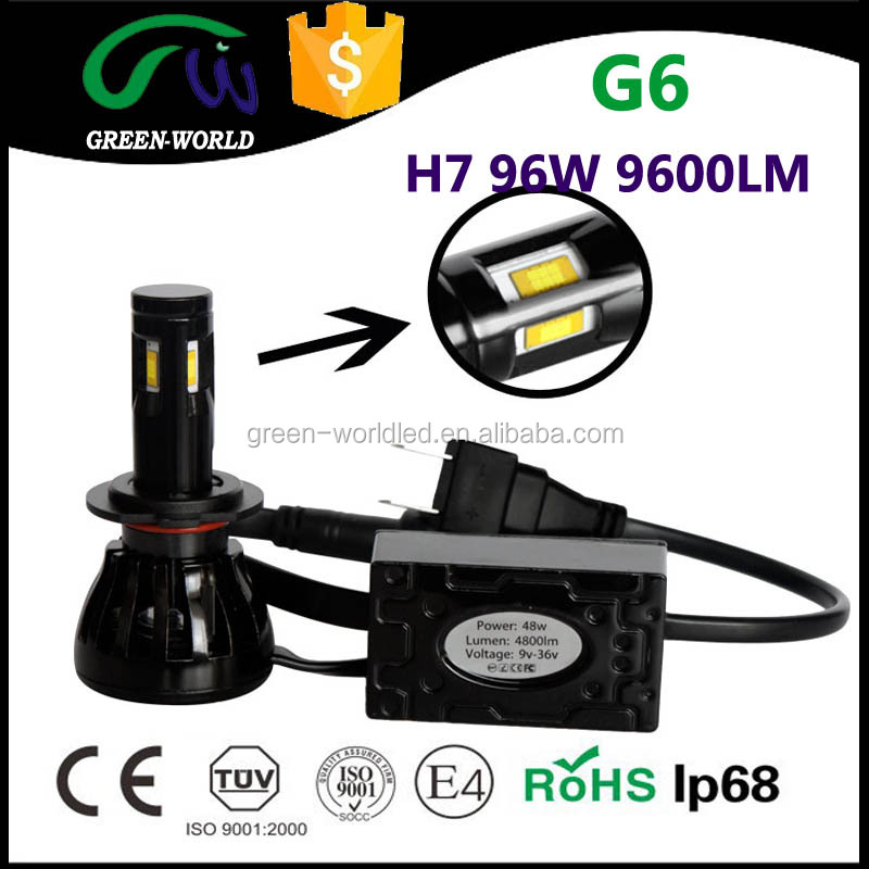 Automobiles & Motorcycles 96W 9600LM Auto Led Headlight H7 for VW Polo motorcycle led projector headlights