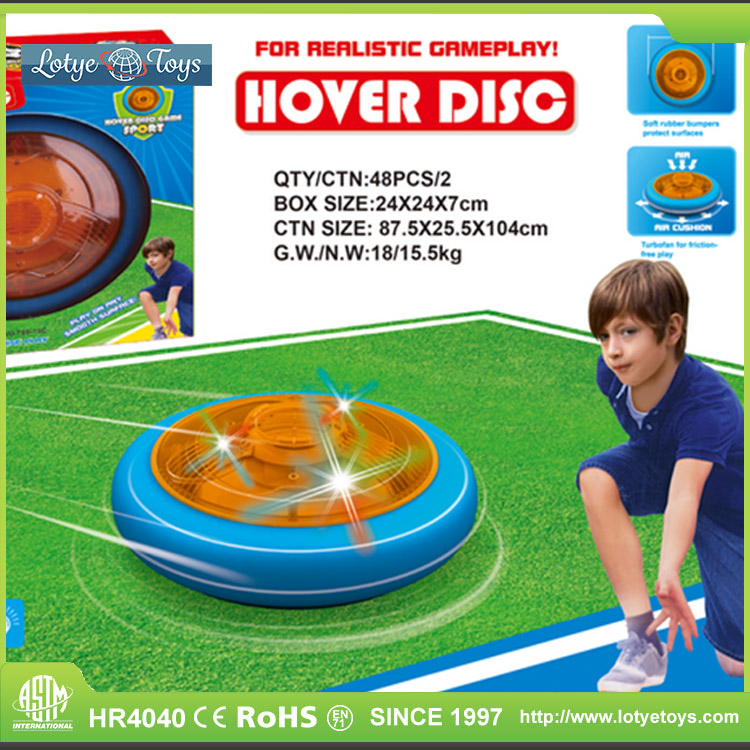 Light up disc hockey set air hover ball toy for kids