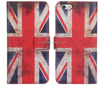 for iphone 6 flag design wallet leather case