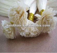 11 2012 HOT SELLING Flat-tip remy hair extension Europe hair