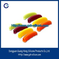 Custom silicone rubber bag handle covers