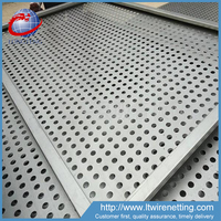 Exterior decorative electro galvanized perforated metal panel for sale