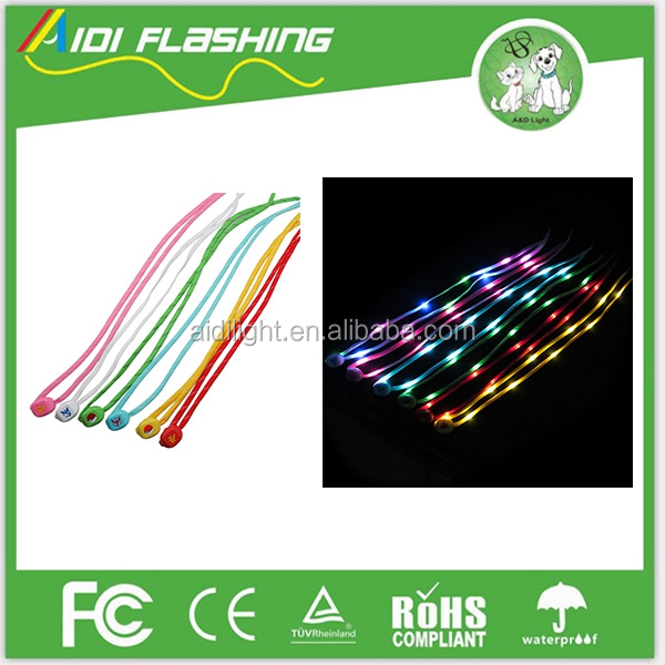 LED Shoelaces Fashion Light Up Casual Sneaker Shoe Laces Disco Party Night Glowing Shoe Strings
