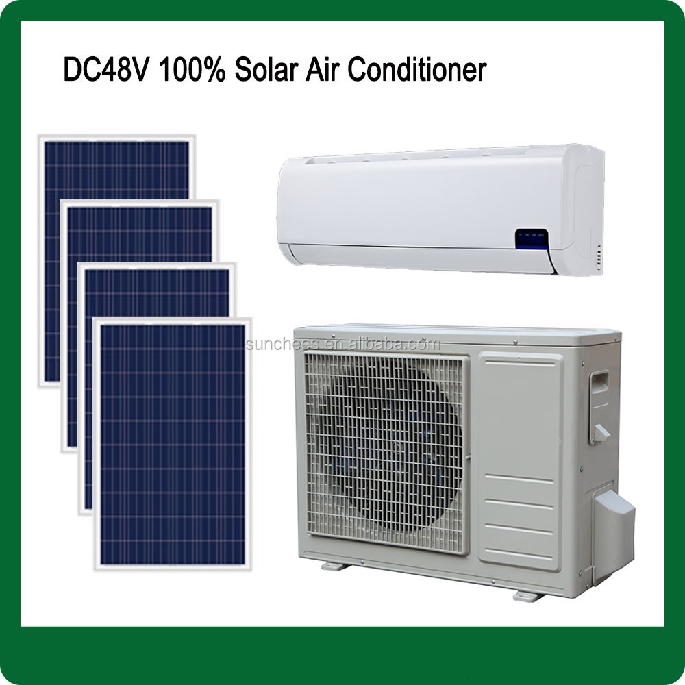 Off grid UK hot sale DC48V split wall best use solar rv air conditioner 9000BTU , 12000BTU