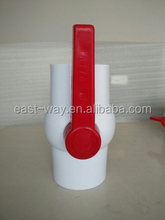 DN 50 white Body Red long Handle PVC Ball Valve