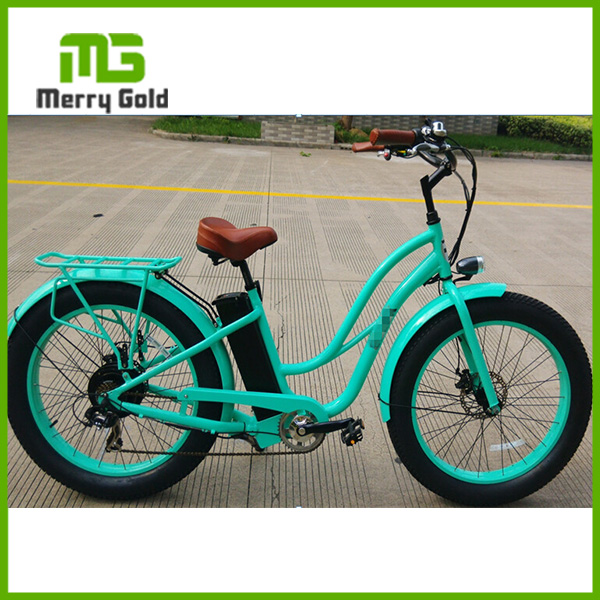 supply CE/en15194 approved 45-50km range fat tire electric bicycle/girls beach cruiser