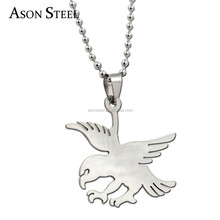 Fashion jewelry Slippy Eagle Glede Pendant 316L Stainless Steel Titanium Steel Men Necklaces Making