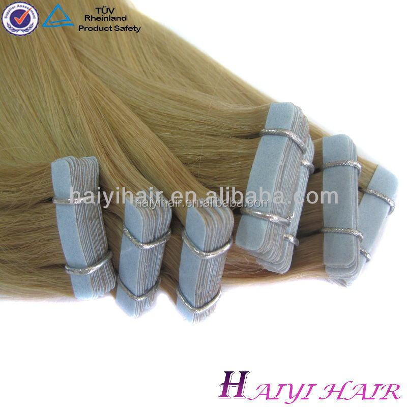 Super Tape Popular Double Drawn Top Quality Wholesale Clear Band Tape Hair Extensions