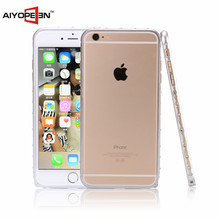 Hot sales Luxury Meta Aluminum Bumper Border Frame Shell Case For iPhone 6 plus ,Diamond Bumper Border for iphone 6s