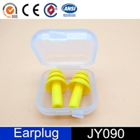 factory supplier sample soundproof silicone ear plug in case
