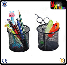 Round Steel Mesh Style Pen Pencil Cup Desk Organizer Holder for Home Office