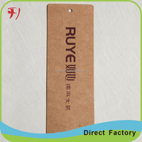 brown kraft china made die cut paper hang tags with a hole