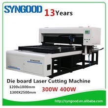 Die board Laser cutting machine 300W 400W laser tube 18mm 22mm 23mm thickness
