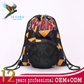 Polyester plain sports ball exercise travelling drawstring backpack for Boys