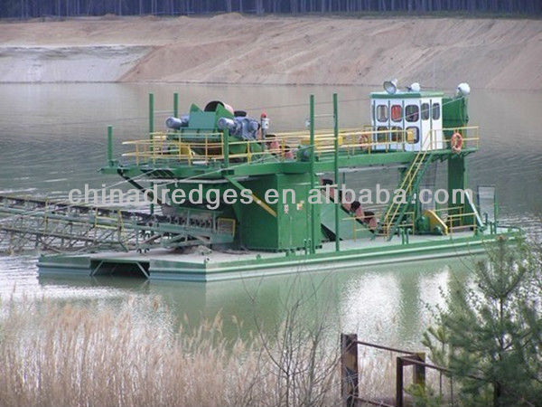 Chain Bucket Dredger for excavating