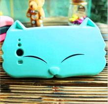 Big face cat shaped phone case for M2,M2X,bear shape silicone mobile phone case for Iphone