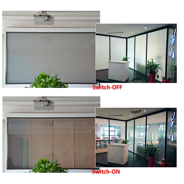 2017 White and Transparent Switchable Smart Film