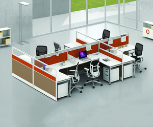 Aluminum Partition 60mm modern office partition cubicle 6 seater workstation