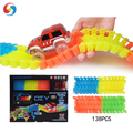 Hot!  DIY 138 PCS Glow Rail Track light toys Flexile Track Race rail car toys