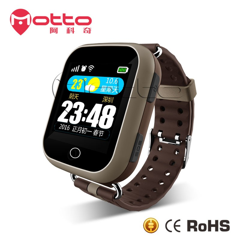 High quality Gps old people Tracker smart watch with nano sim card