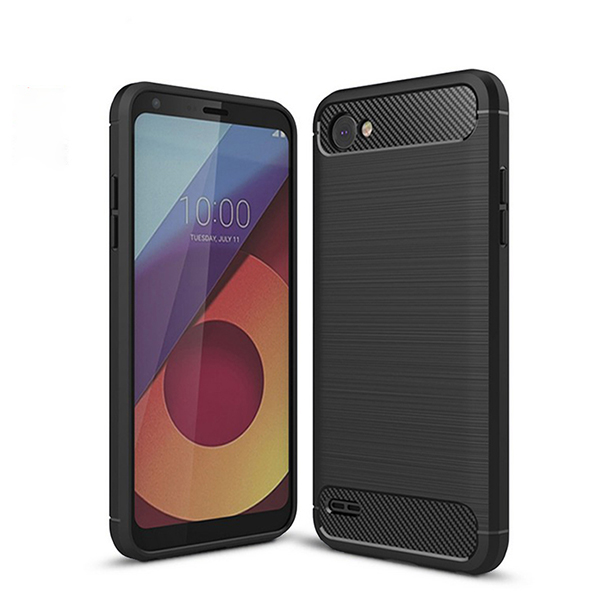 Newest!!wholesale good quality case cover for LG Q6 brush tpu case for LG Q6 back cover