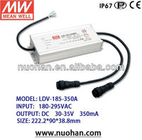 Meanwell Switching Power Supply indoor led driver Optional timer dimming function 185w led driver