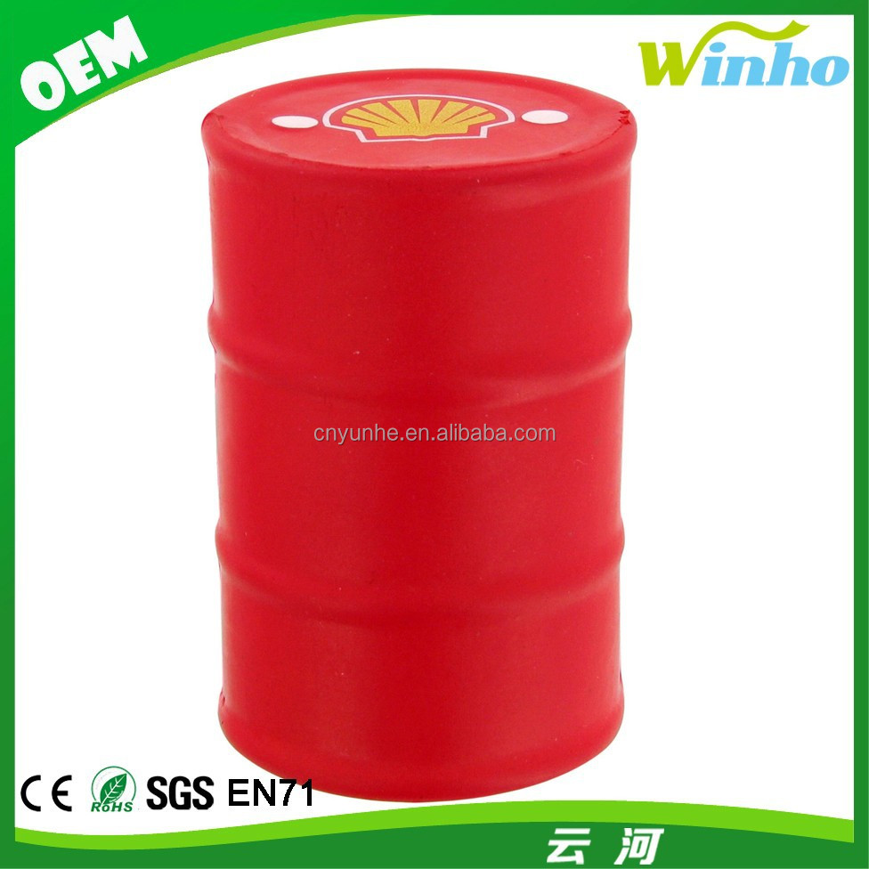 Winho Eco-friendly Pu Oil Drum Shaped Stress Ball
