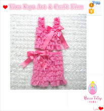 baby girl boutique clothing sets children pink lace dance wear