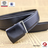 Lady black Leather Buckle bonded leather Belt