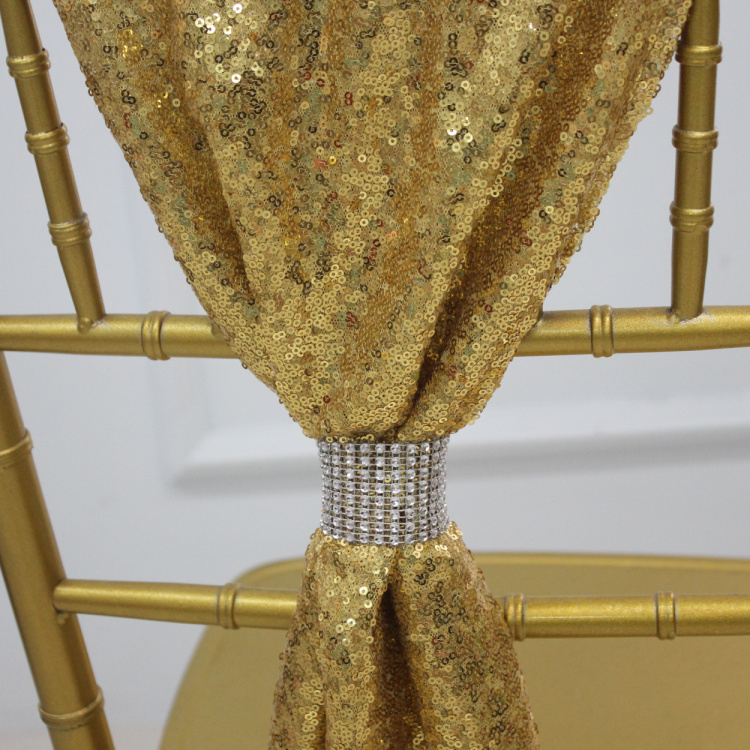 Chiavari chair sash sequin chair sash for wedding