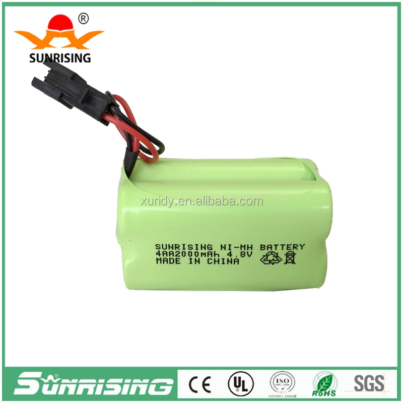 4.8V Nimh AA2000mah rechargeable battery pack for cordless phone