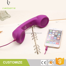 Anti-radiation coco retro mobile phone handset, telephone receiver for smart phones and laptops