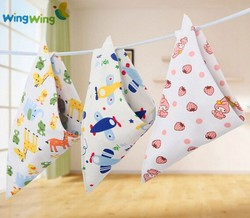 Alibaba China supplier colorful style baby bandana bibs 100% organic cotton material