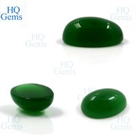 Green Gems Stone Malaysian Oval Cabochon Synthetic Jade