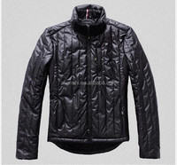 European Fashion Padding Filled Lightweight Winter Shiny Down Jackets For Mens