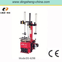 "28"" enlarged turntable and high power motor tire changer with semi-automatic swing arm"