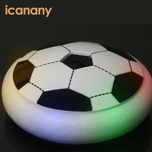 Air floating indoor light up soccer disk mini football player toy Hover soccer ball
