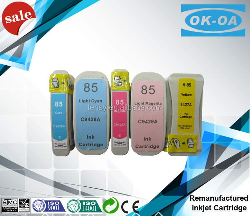 remanufactured ink cartridge for HP 85 series computer printer ink cartridges