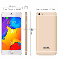 4.7 inch Blackview Ultra A6 MTK6582M Quad Core 3G Smartphone 1GB RAM 8GB ROM Android 4.4 13MP Dual Sim GPS WCDMA mobile phone