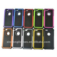 Hybrid Rugged Rubber Matte Hard 3-in-1 Case Cover For iPhone 5 5G w