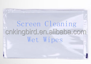 I phone I pad mobile phones TV screen computer screen cleaning pre-moistened wet wipes