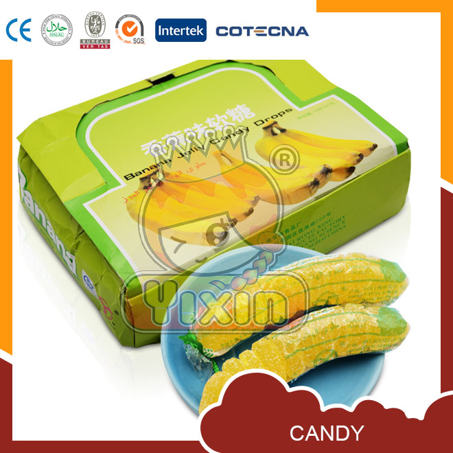 Banana shape penny soft candy bulk